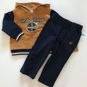 NWT Boys Timberland 24 months Hoodie Pants Set NEW